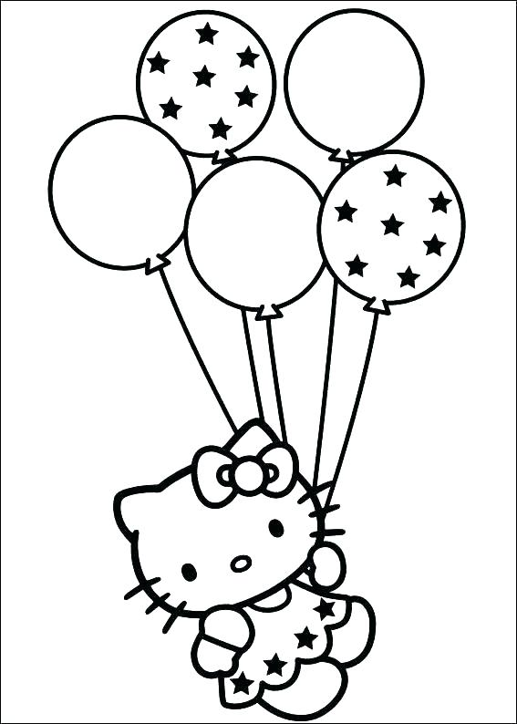 567x794 Balloon Coloring Pages Printable Balloon Coloring Pages A Picture