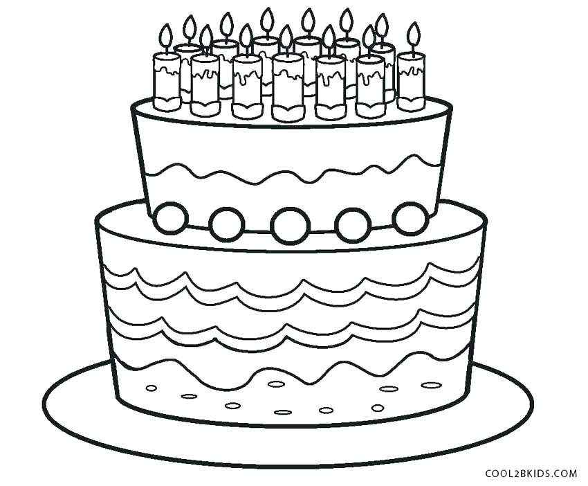 850x702 Birthday Cake Coloring Pages Preschool Birthday Cake Coloring