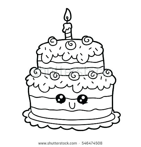450x470 Cake Printable Coloring Pages Birthday Cake Color Page Cupcakes