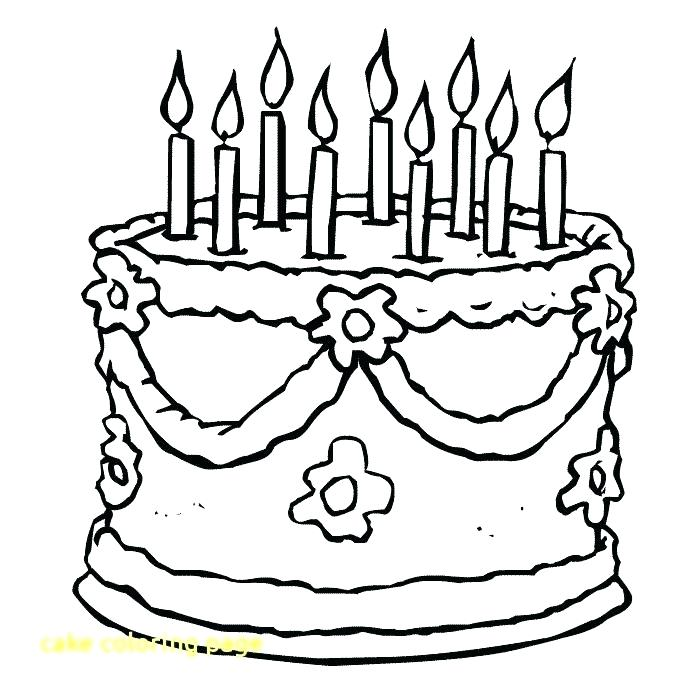 700x700 Coloring Page Birthday Cake Birthday Cake Coloring Pages Printable