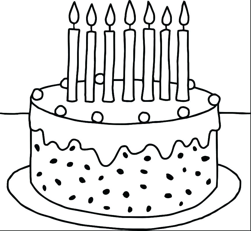 863x796 Coloring Page Birthday Cake Printable Pages