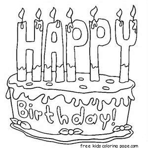 300x300 Free Printable Birthday Cake Coloring Sheets For Kidsfree
