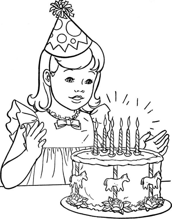 600x762 Happy Birthday Cake Coloring Page Best Of Happy Birthday Cake