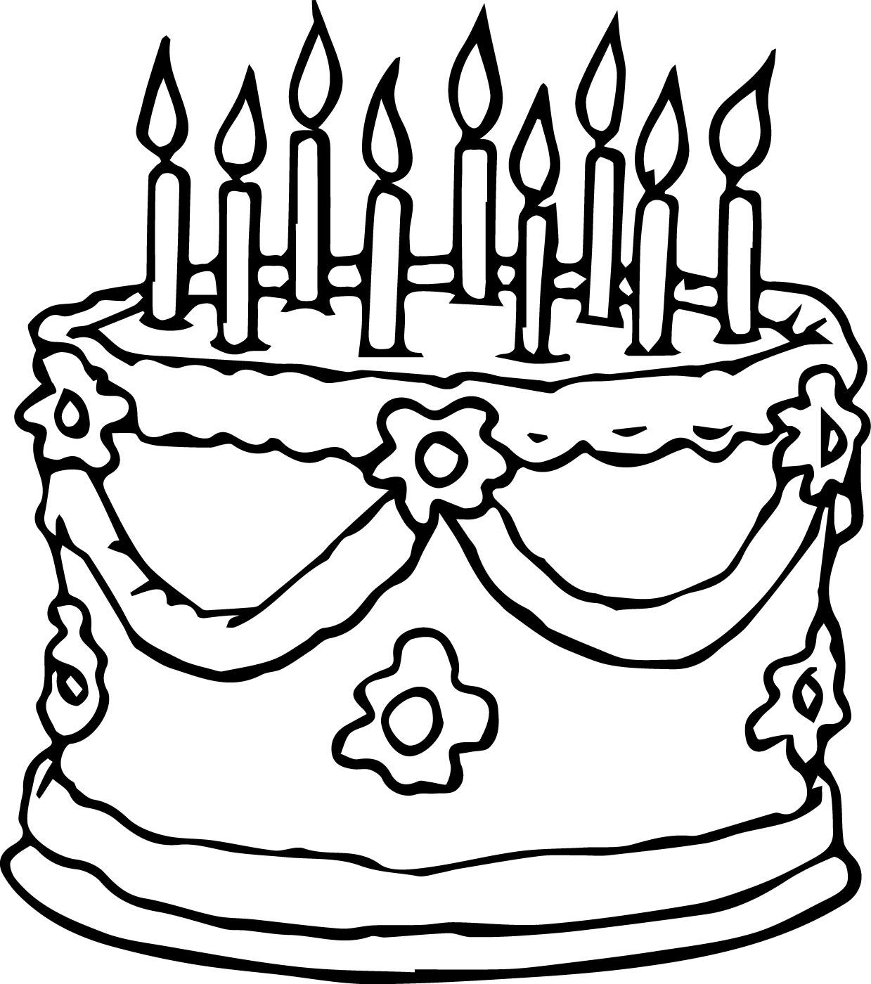 1239x1400 Wedding Birthday Cake Coloring Page Wecoloringpage