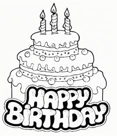 236x273 Birthday Cake Coloring Pages Colorings' World Happy Birthday