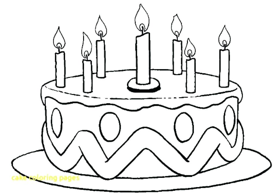 960x673 Birthday Cake Coloring Pages Printable Happy Birthday Cake
