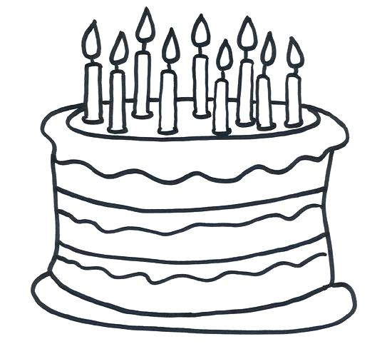 550x489 Birthday Cake Pictures To Color Happy Birthday Cake Coloring Pages