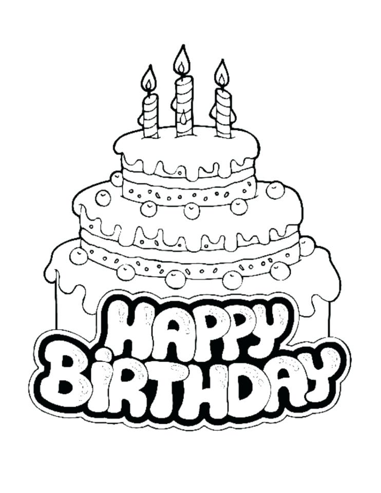 742x960 Birthday Cake Printable Coloring Pages Birthday Cake Coloring