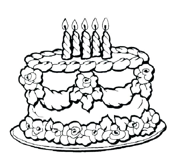 618x559 Birthday Cakes Coloring Pages Happy Birthday Cake Coloring Sheet