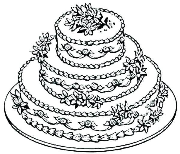 600x512 Cake Coloring Pages Birthday Cake Coloring Pictures Coloring Pages
