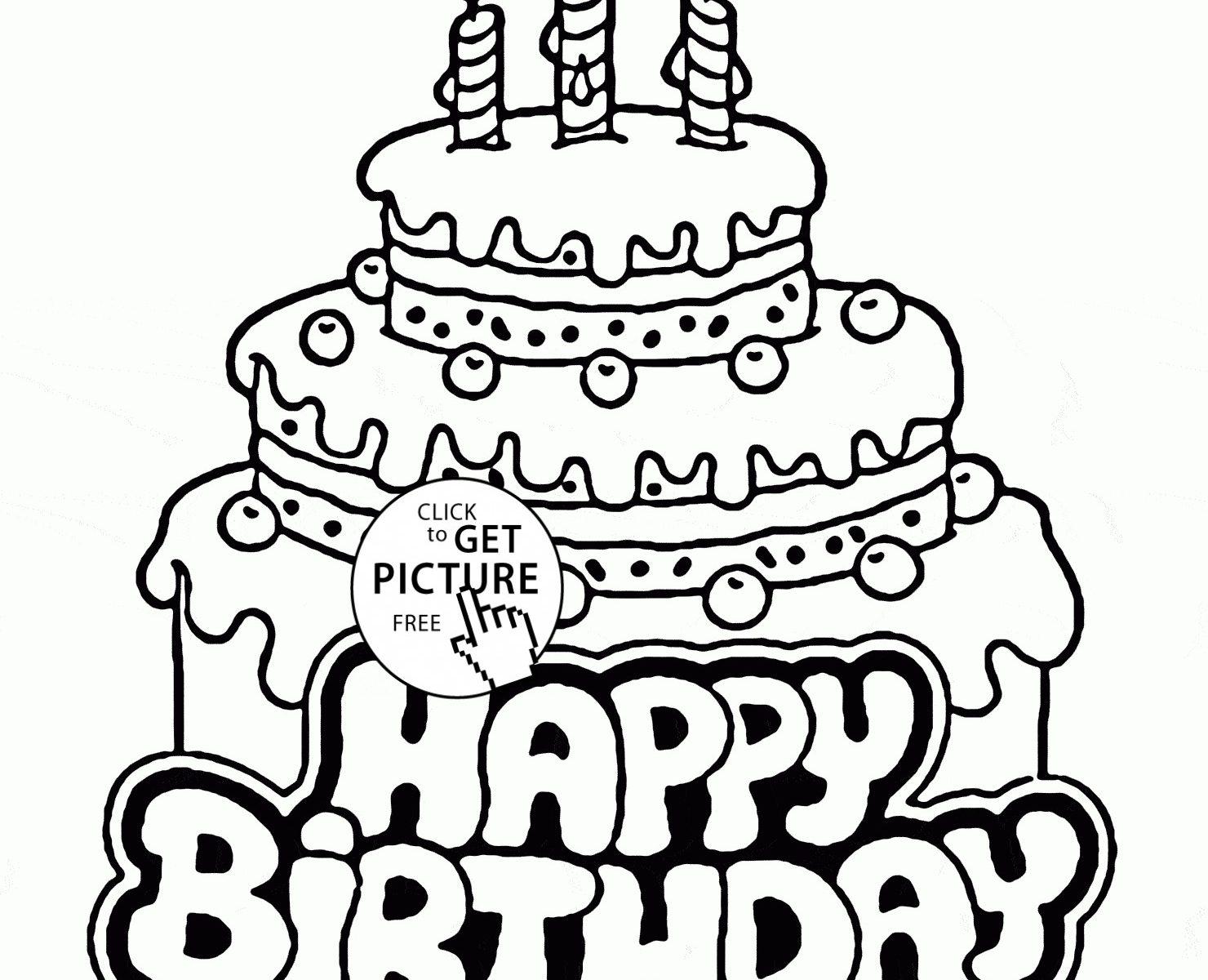 1480x1200 Free Birthdayakeoloring Pages To Print Page Printableolouring