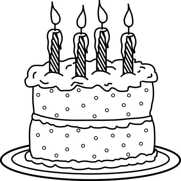 600x601 Free Printable Birthday Cake Coloring Pages Color Page Free