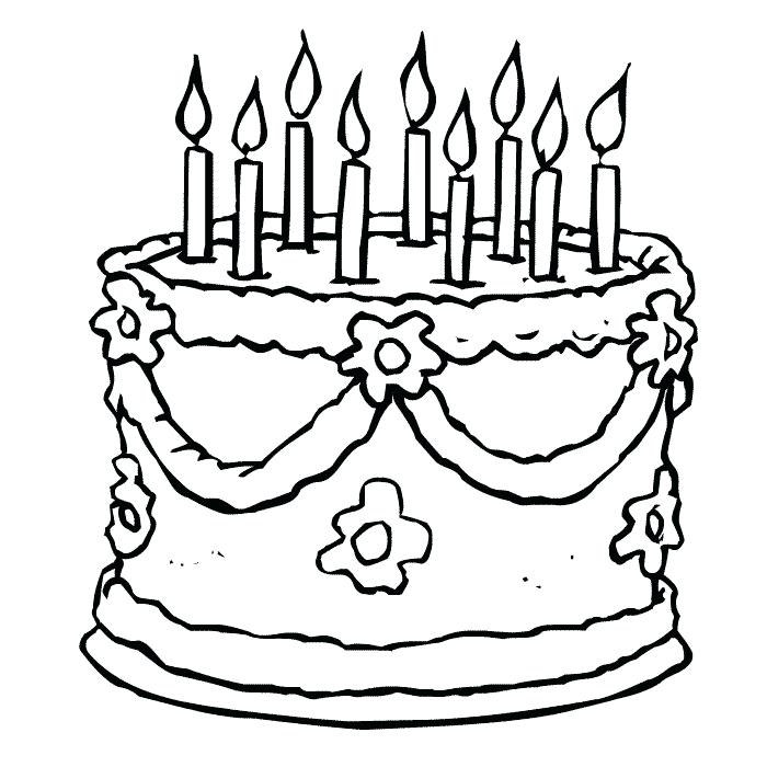 700x700 Free Printable Birthday Cake Coloring Pages For Kids Coloring