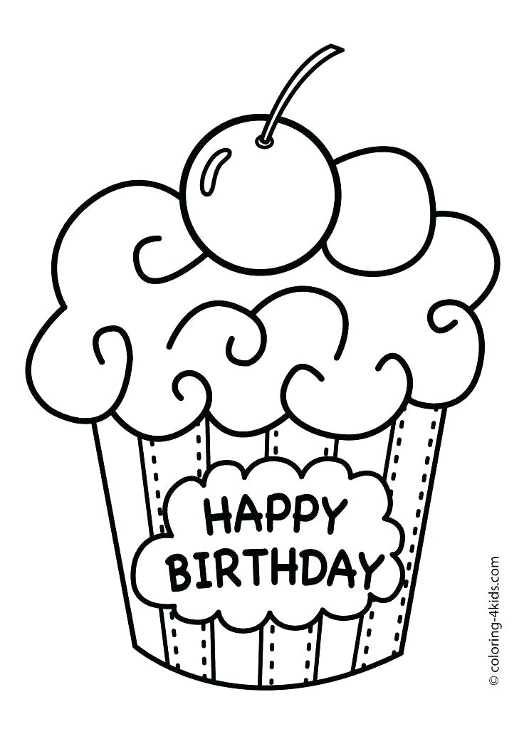 736x1031 Awesome Printable Happy Birthday Coloring Pages Coloring Pages