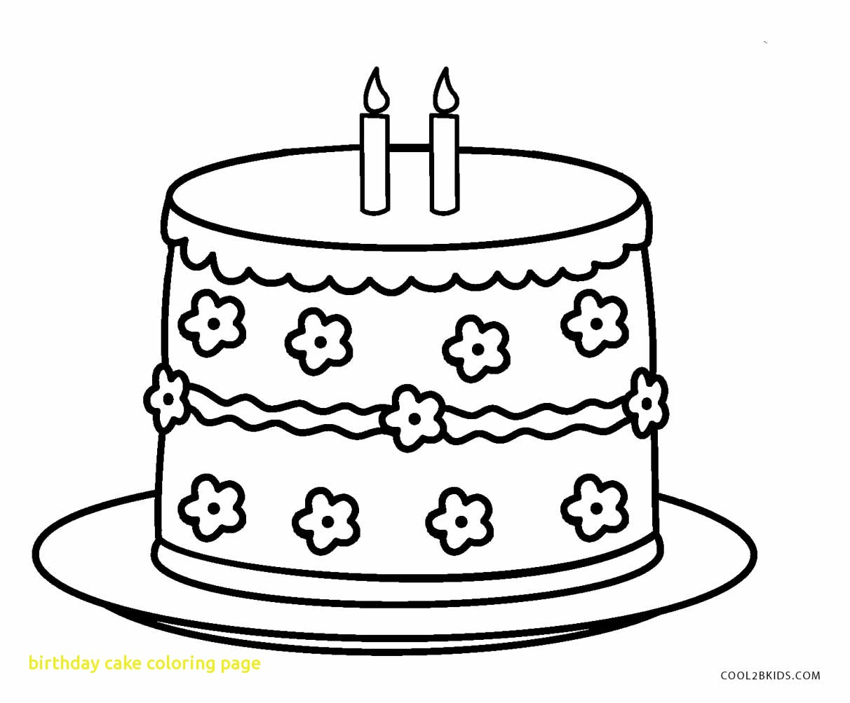 The best free Birthday cake coloring page images. Download ...