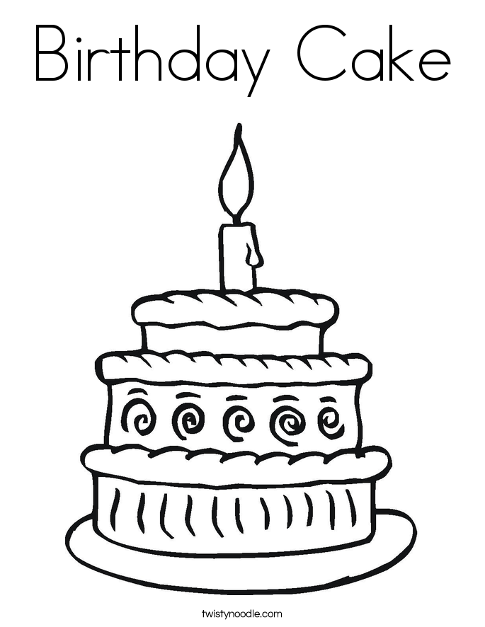 685x886 Birthday Cake Coloring Page
