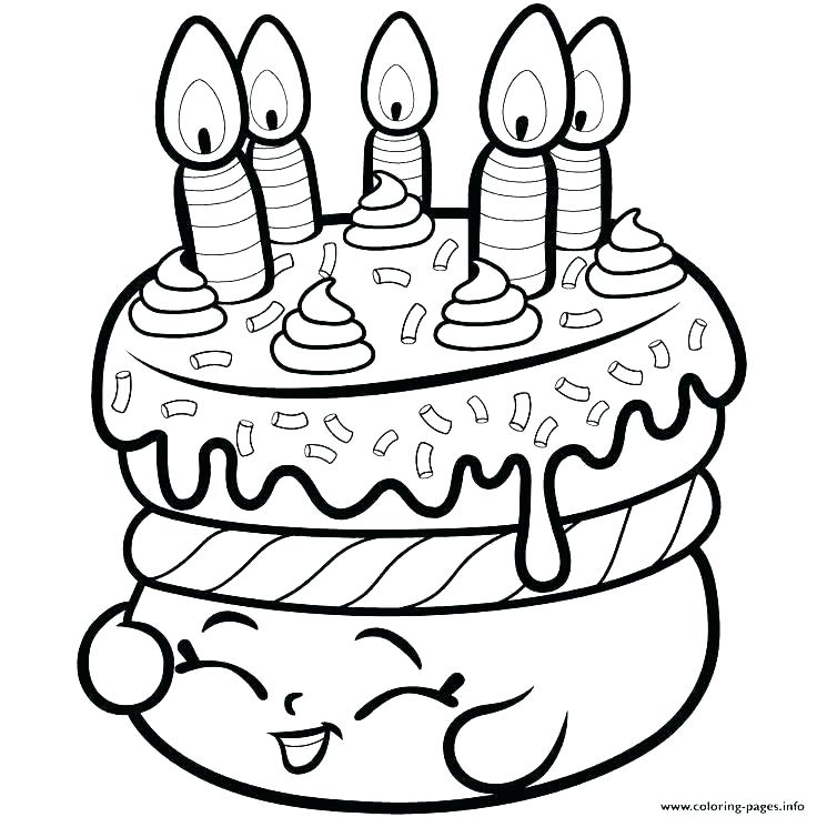 736x736 Birthday Cake Coloring Page Coloring Pages Birthday Birthday Cake