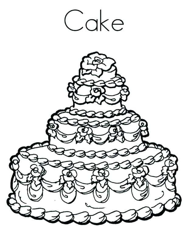 618x754 Birthday Cake Coloring Page Outstanding Birthday Cake Coloring