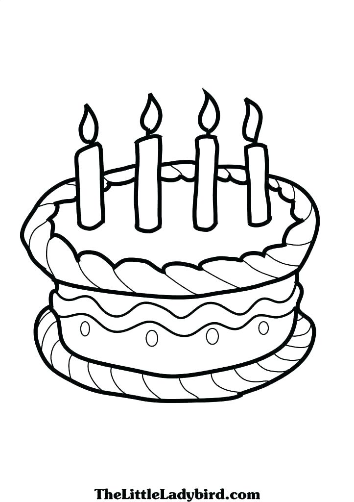 723x1024 Birthday Cake Coloring Page Printable Birthday Cake Coloring Page