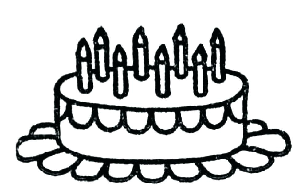 960x639 Birthday Cake Coloring Sheets Birthday Cake Coloring Page With No