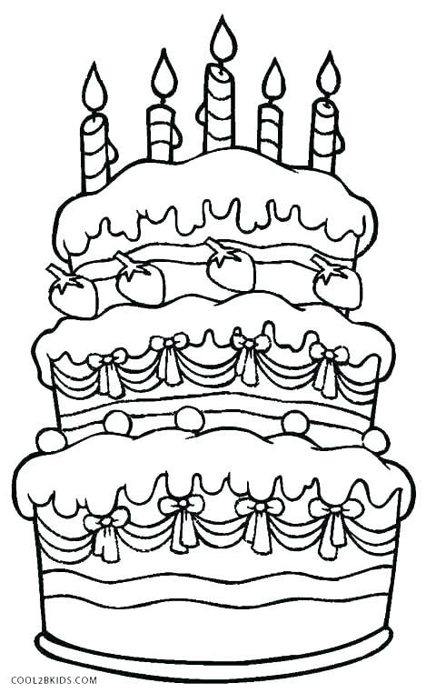 469x762 Blank Birthday Cake Coloring Page Preschool Birthday Cake Coloring