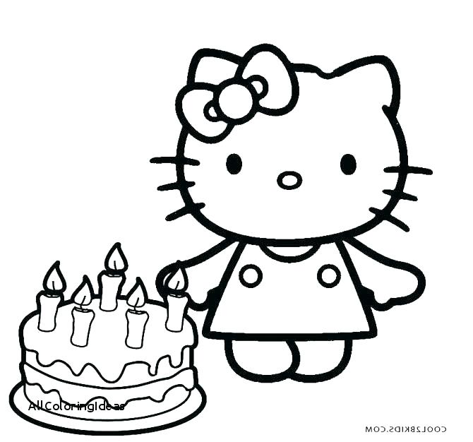 670x626 Cake Coloring Page Birthday Cake Coloring Pages Preschool
