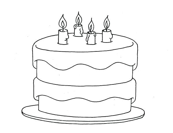 600x463 Coloring Page Birthday Cake Cake Coloring Pages Amazing Birthday