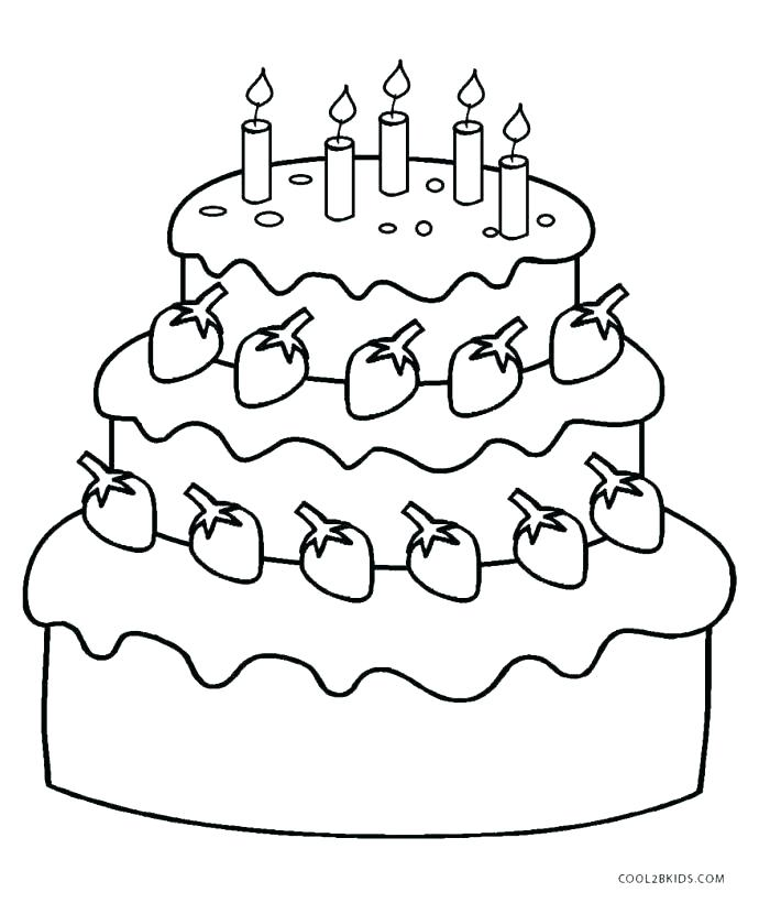 700x820 Coloring Pages Of Birthday Cakes Birthday Cake Coloring Pages