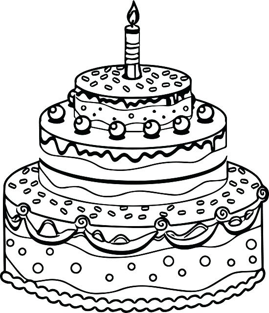 550x641 Free Printable Birthday Cake Coloring Pages For Kids Birthday Cake
