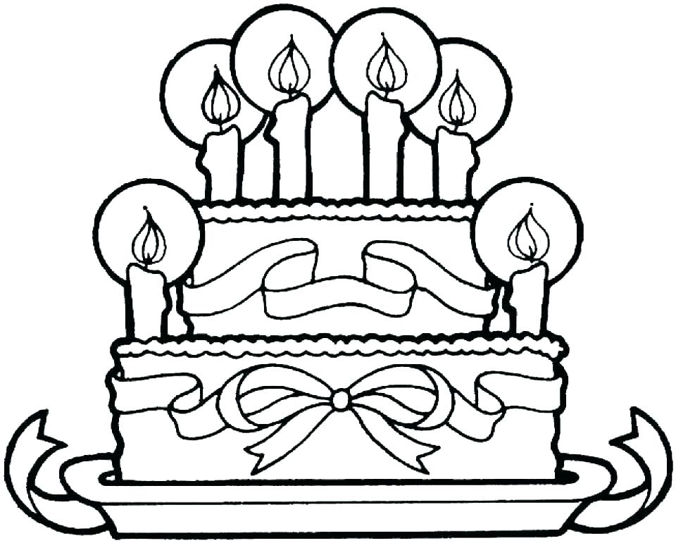 960x771 Coloring Pages Of Cakes