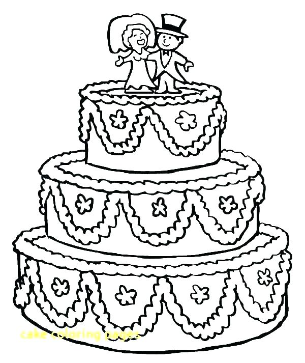 600x713 Birthday Cake Coloring Page Coloring Pages Birthday Happy Birthday