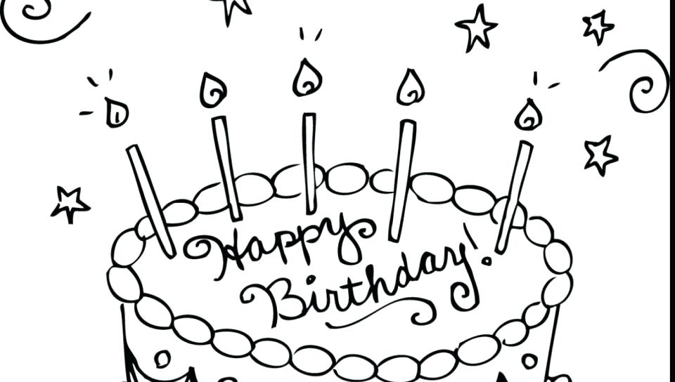 960x544 Birthday Cake Coloring Pages Preschool Birthday Cake Coloring Page