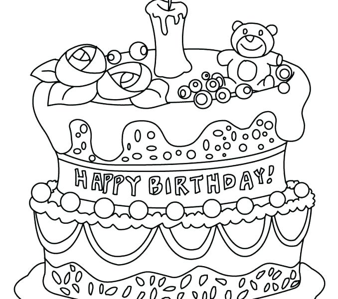 678x600 Birthday Cake Coloring Pages Preschool How To Draw Best Coloring