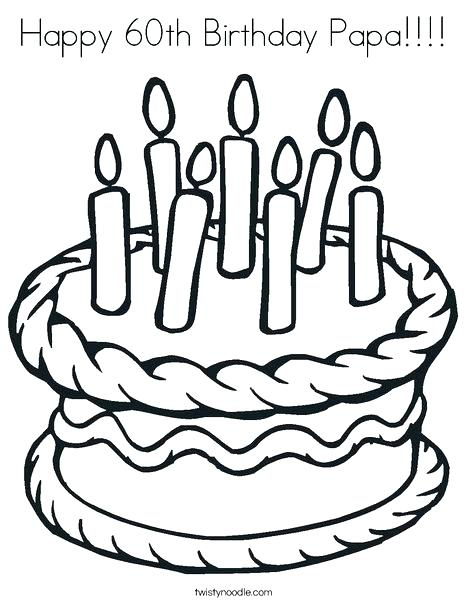 468x605 Birthday Candle Coloring Page Happy Birthday Papa Coloring Pages