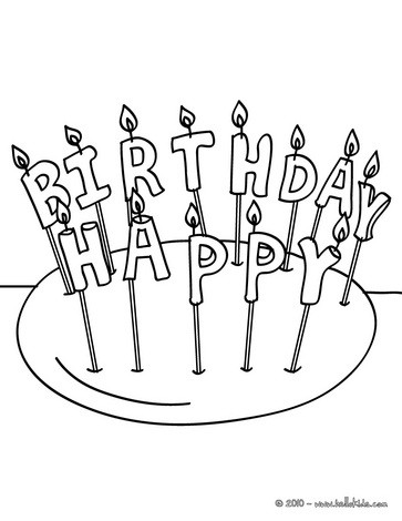 363x470 Birthday Candle Years Coloring Pages