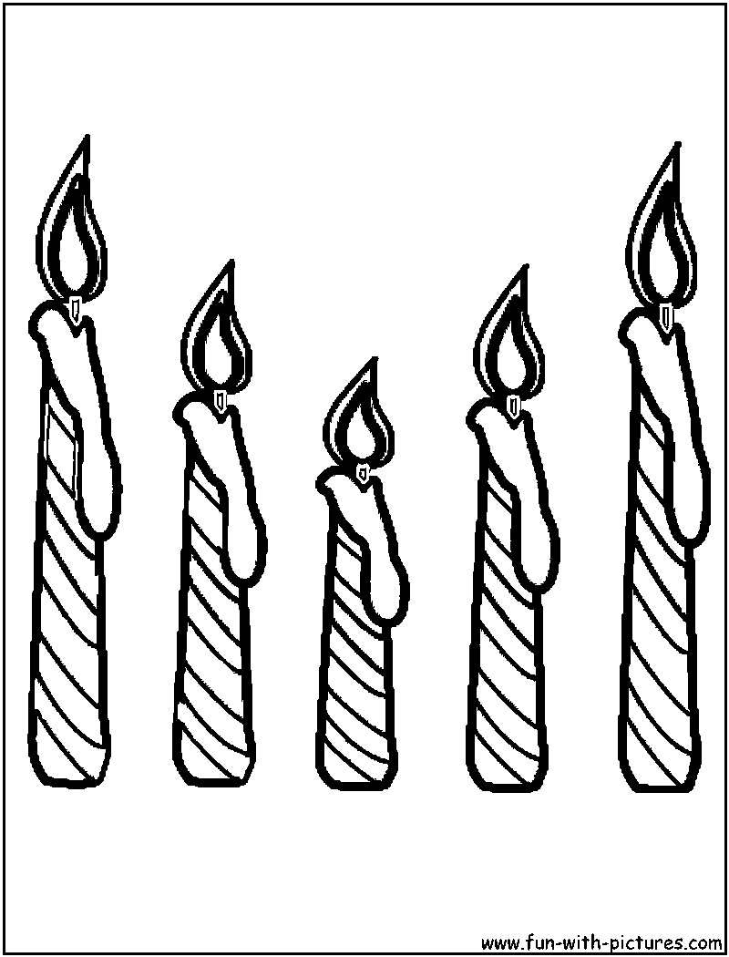 800x1050 Candle Coloring Page