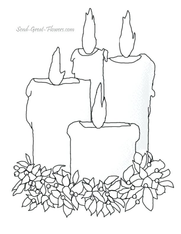 612x792 Candle Coloring Page Candles Coloring Page Printable Birthday