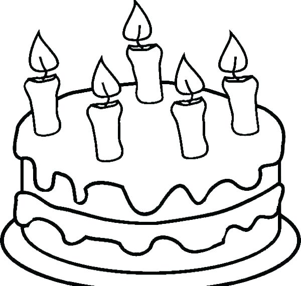 600x571 Candle Coloring Page Coloring Page Cake Cupcake Cupcake Coloring