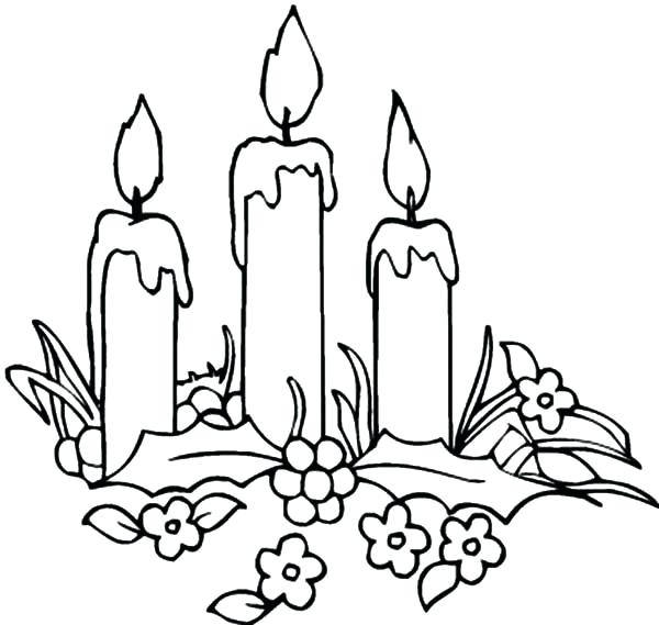 600x569 Candle Coloring Pages Candle Coloring Page Candle Coloring Page