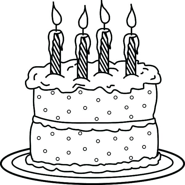 600x601 Candle Coloring Pages Candle Coloring Pages Birthday Candle