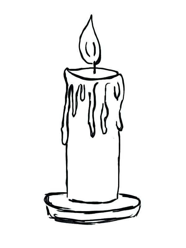 600x800 Candle Coloring Pages Coloring Page Candle Birthday Candle