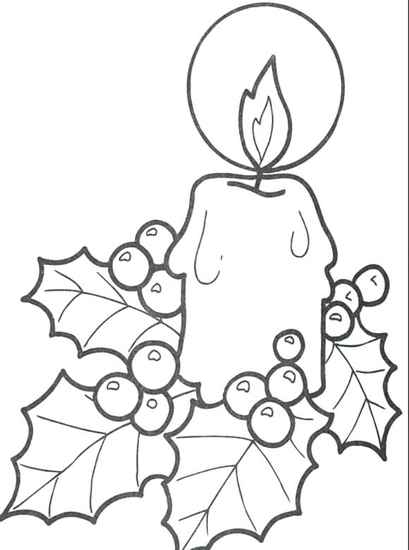 580x779 Candle Coloring Sheet Birthday Candle Coloring Page