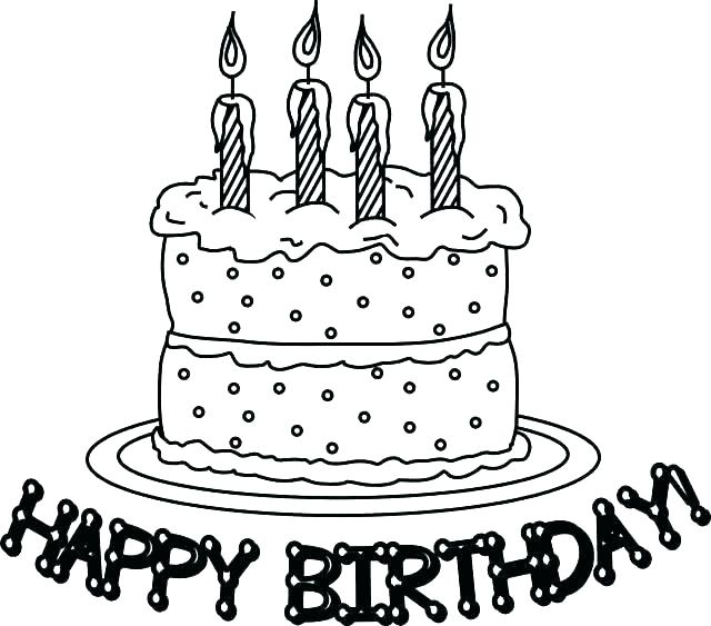 640x563 Coloring Pages Of Birthday Cakes Coloring Page Birthday Cake Cake
