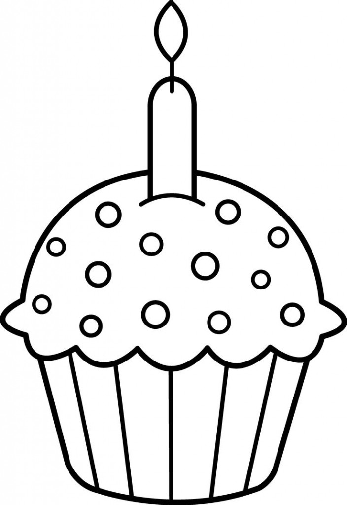 704x1024 Coloring Pages Of Birthday Candles Candle Page