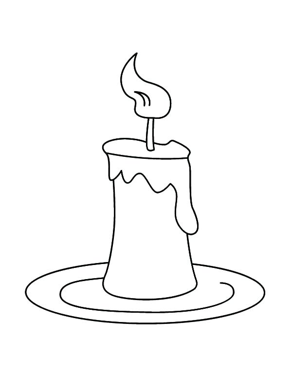 600x776 Shrewd Candle Coloring Page Birthday Candles Free Printable Pages