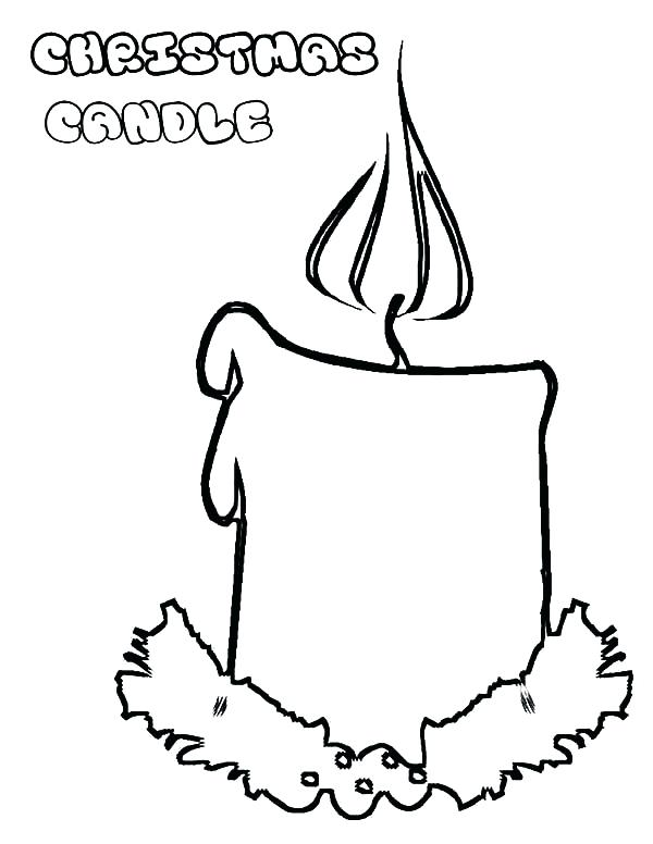 600x776 Birthday Candle Coloring Page Candle Coloring Pages Birthday Cake
