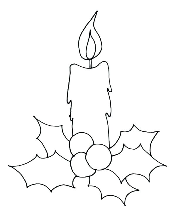 600x745 Birthday Candle Coloring Page Coloring Candle Coloring Page How