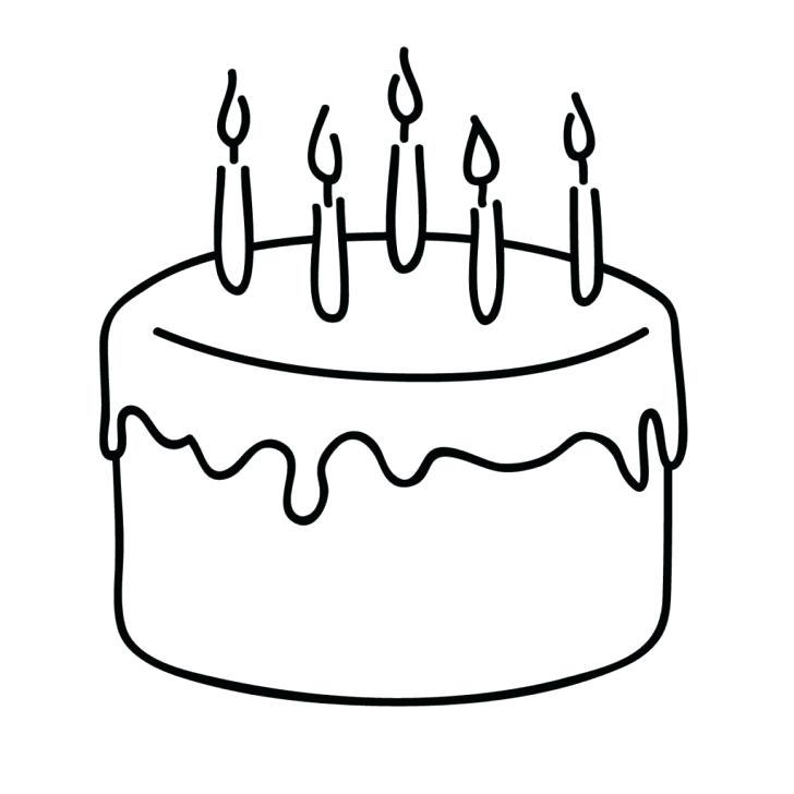 728x728 Birthday Candle Coloring Page Coloring Pages Cake Page