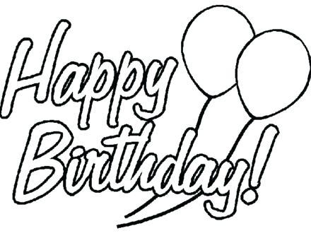 440x330 Coloring Page Birthday Card Printable Happy Birthday Coloring