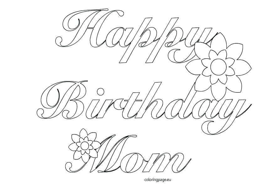 842x595 Coloring Pages For Birthday Cards Coloring Page Birthday Card